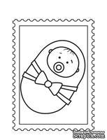Акриловый штамп D026 Фотография ребенка, размер 2,8 * 3,8 см