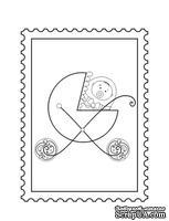 Акриловый штамп D027 Коляска, размер 2,8 * 3,8 см