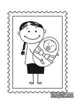 Акриловый штамп D028 Мама и ребенок, размер 2,8 * 3,8 см