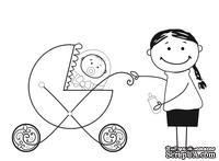 Акриловый штамп D032 Мама и ребенок, размер 5,1 * 3,3 см