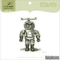 Акриловый штамп Lesia Zgharda D036 Космонавт, размер 3,6х5,7 см.