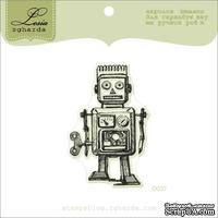 Акриловый штамп Lesia Zgharda D037 Робот, размер 3,6х5,5 см.