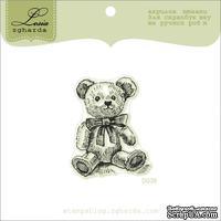 Акриловый штамп Lesia Zgharda D038 Медвежонок с бантиком, размер 3,5х4,5 см.