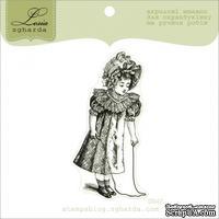 Акриловый штамп Lesia Zgharda D047 Девочка со скакалкой, размер 3,3х6,7 см.