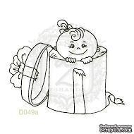 Акриловый штамп Lesia Zgharda Ребенок в подарке D049a, размер 4,9х4 см