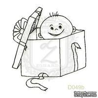 Акриловый штамп Lesia Zgharda Ребенок в подарке D049b, размер 3,7х4,2 см