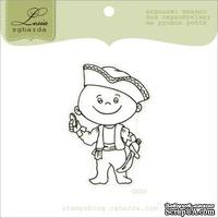 Акриловый штамп Lesia Zgharda D053 Маленький пират, размер 3,7х5,5 см.