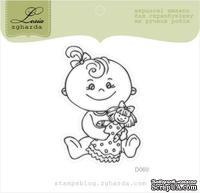 Акриловый штамп Lesia Zgharda D060 Девочка с куклой, размер 3,9х5,5 см.