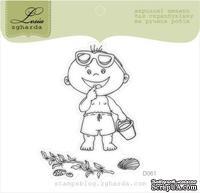 Акриловый штамп Lesia Zgharda D061 Мальчик на пляже, размер 4,9х6,6 см.