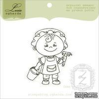 Акриловый штамп Lesia Zgharda D064 Девочка в песочнице, размер 4,6х5,7 см.