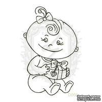 Акриловый штамп Lesia Zgharda Ребенок с подарком D066, размер 3,8х6,2 см