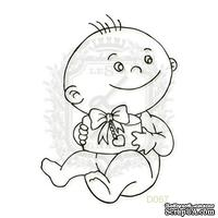 Акриловый штамп Lesia Zgharda Ребенок с подарком D067, размер 4,1х5,7 см