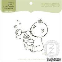Акриловый штамп Lesia Zgharda D068 Мальчик с мыльными пузырями, размер 5,4х5,4 см.