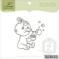Акриловый штамп Lesia Zgharda D069 Девочка с мыльными пузырями, размер 5х5,4 см.