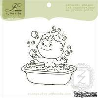 Акриловый штамп Lesia Zgharda D070 Девочка в ванной, размер 5,7х6 см.