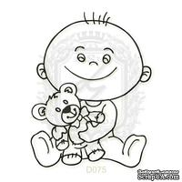 Акриловый штамп Lesia Zgharda D075 Мальчик с мишкой
