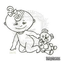 Акриловый штамп Lesia Zgharda Ребенок с игрушкой D076, размер 5,6х5,1 см