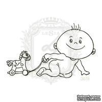 Акриловый штамп Lesia Zgharda Ребенок с игрушкой D078, размер 6,7х4,1 см