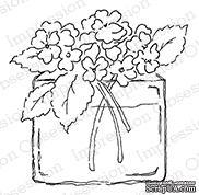 Резиновый штамп от Impression Obsession - Whimsy Hydrangea Vase -Ваза с гортензией