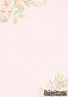 Лист двусторонней скрапбумаги от Galeria Papieru - Jak we snie - JWS II 03  - 10х14,5см, розовый фон