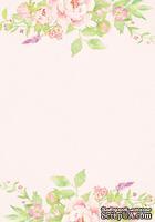 Лист двусторонней скрапбумаги от Galeria Papieru - Jak we snie - JWS II 02  - 10х14,5см, розовый фон