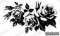 Резиновый штамп от Impression Obsession - Three Blooming Roses