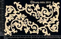Чипборд от Dusty Attic - Ornate Scroll,2 шт.
