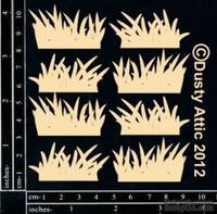 Чипборд от Dusty Attic - mini Grass Clusters, 8 шт.