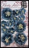 Набор цветочков от Dusty Attic - Dusty In Bloom Smokey Blue, 12 шт. - ScrapUA.com