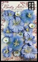 Набор цветочков от Dusty Attic - Dusty in Bloom Blue Bonnet, 14 шт.