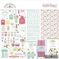 Набор бумаги и декора Doodlebug Essentials Page Kit - Made With Love