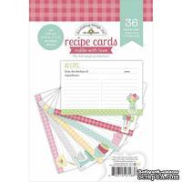 Набор бумаги Doodlebug Made With Love Recipe Cards, 15х15 см