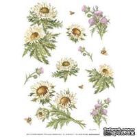"""Бумага для декупажа """"Полевые цветы"""", размер: 35x50 см"""