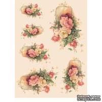 """Бумага для декупажа """"Композиция Розы-1"""", размер: 35x50 см"""
