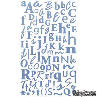 Наклейки - Alphabet Glitter Stickers - Dusky Blue,170 шт