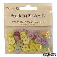 Набор пуговиц от Dovecraft - Back to Basics IV, 60 шт.