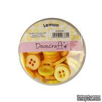 Набор пуговиц от Dovecraft - Lemon, 60 шт