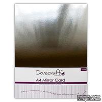 Картон от Dovecraft A4 - Серебрянное Зеркало, 5 шт.