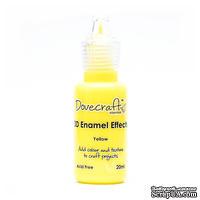 Жидкие эмалевые капли от Dovecraft - Yellow, 20 мл
