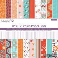 Набор  двусторонней скрапбумаги от  Dovecraft - More or Less Value Pack, 30x30 см, 30 шт