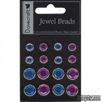 Брадсы Dovecraft - Jewel Brads – Purple and Blue