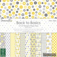 Набор бумаги от Dovecraft - Back to Basics Baby Steps (30x30 см), 36 листов, односторонняя
