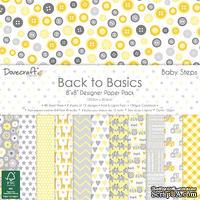 Набор бумаги от Dovecraft - Back to Basics Baby Steps (20x20 см), 48 листов, односторонняя