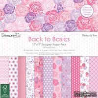 Набор бумаги от Dovecraft - Back to Basics Perfectly Pink (30x30 см), 36 листов, односторонняя