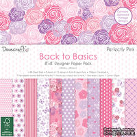 Набор бумаги от Dovecraft - Back to Basics Perfectly Pink (20x20 см), 48 листов, односторонняя