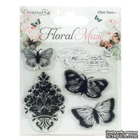 Штампы акриловые от Dovecraft - Butterfly, 10,5 х 14,5 см