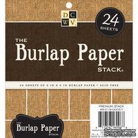 Набор кардстока DCWV Burlap, 15х15 см, 24 листа, с мешковиной
