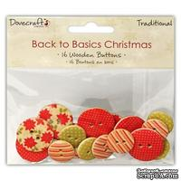Деревянные пуговицы от  Dovecraft - Back to Basics Christmas Traditional