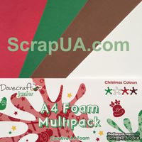 Вспененная резина декоративная от Dovecraft - Christmas Multiple Pack, A4, 4 листа