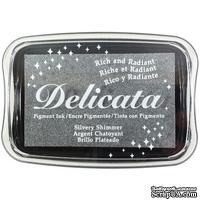 Чернила Tsukineko Delicata Ink Pad - Silvery Shimmer